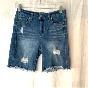 Celebrity Pink High Rise Distressed Denim Shorts